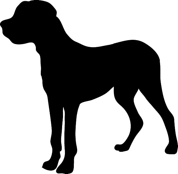 shaefer male silhouette, silhouette graphics big dog clipart