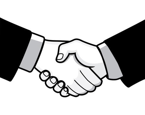 Shaking Hands Vector Clipart Best