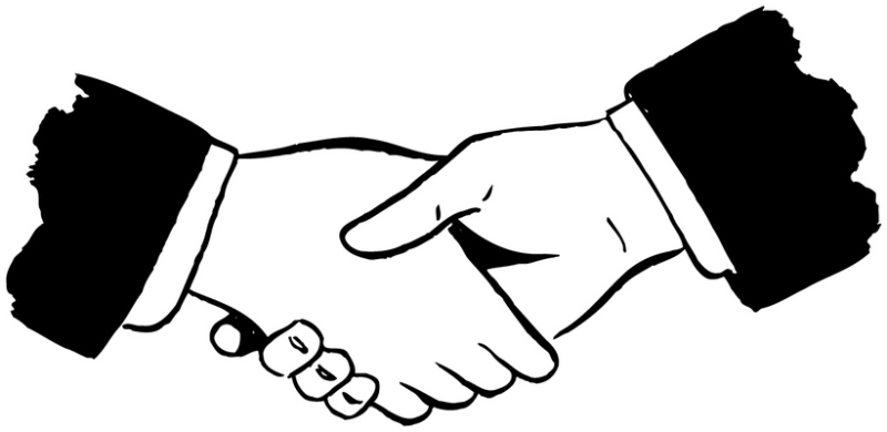 Shaking Hands Vector - Clipart library