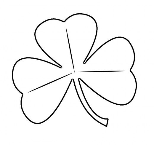 Shamrock Printable Coloring Page