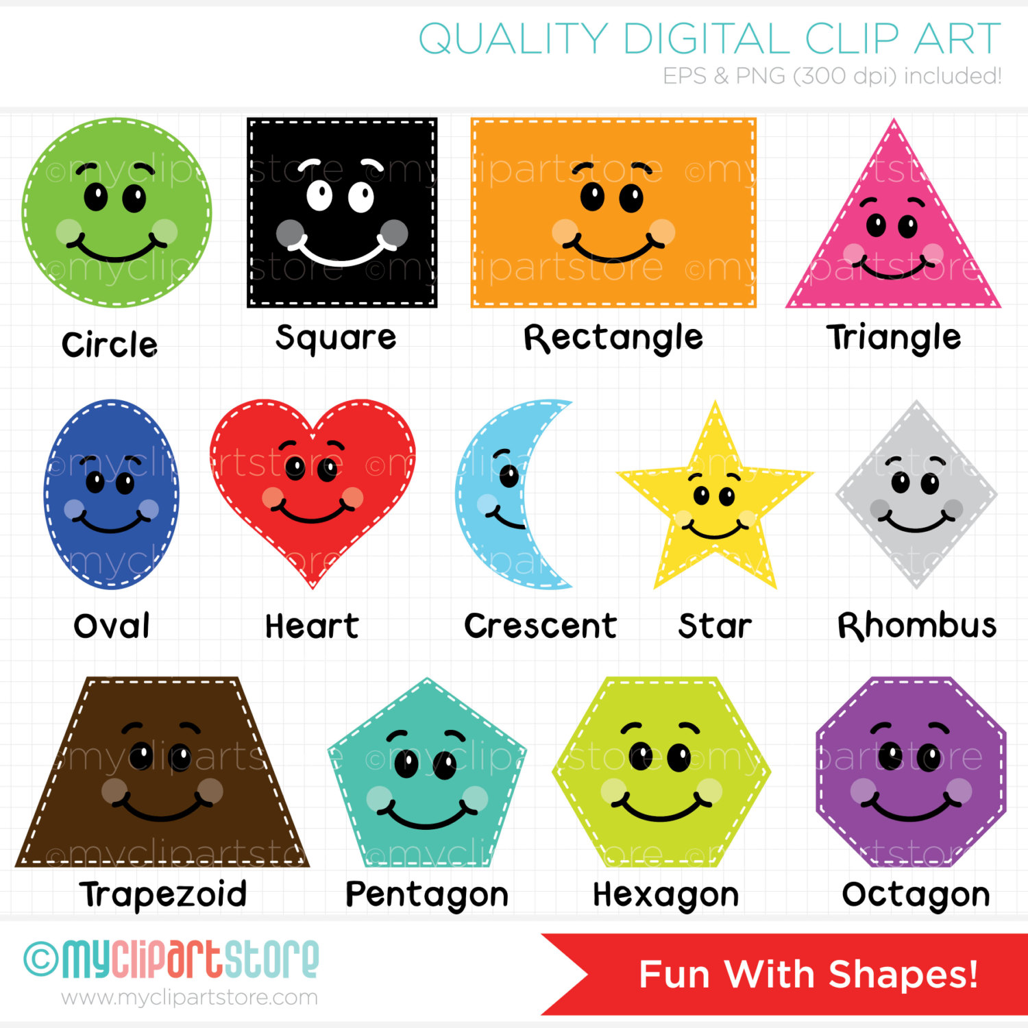 Shapes Clip Art. 1000  images about shapes on .
