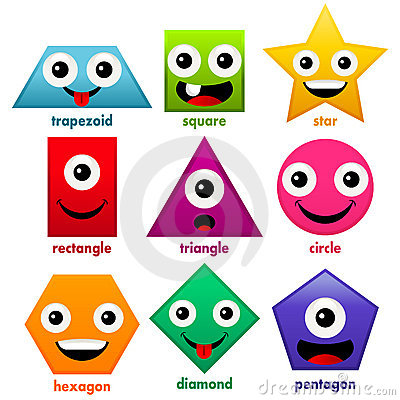 Shapes Clip Art Cartoon. Shapes Stock Il-Shapes Clip Art Cartoon. Shapes Stock Illustrations .-13