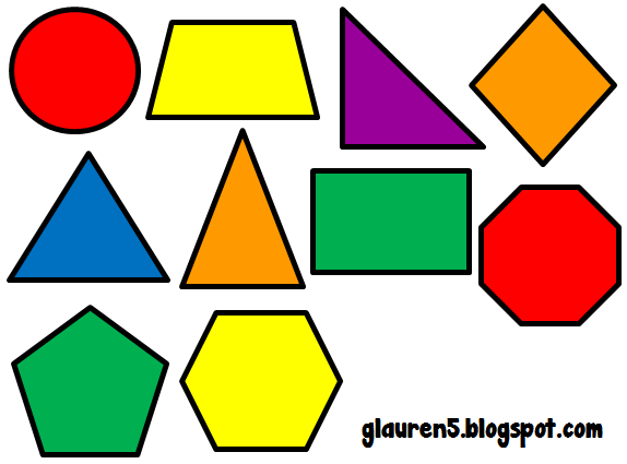 Shapes In Primary Colors I Ev - Geometry Clip Art