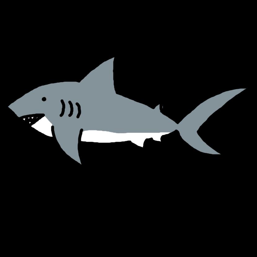 Shark Clip Art Black And White .-Shark Clip Art Black And White .-11