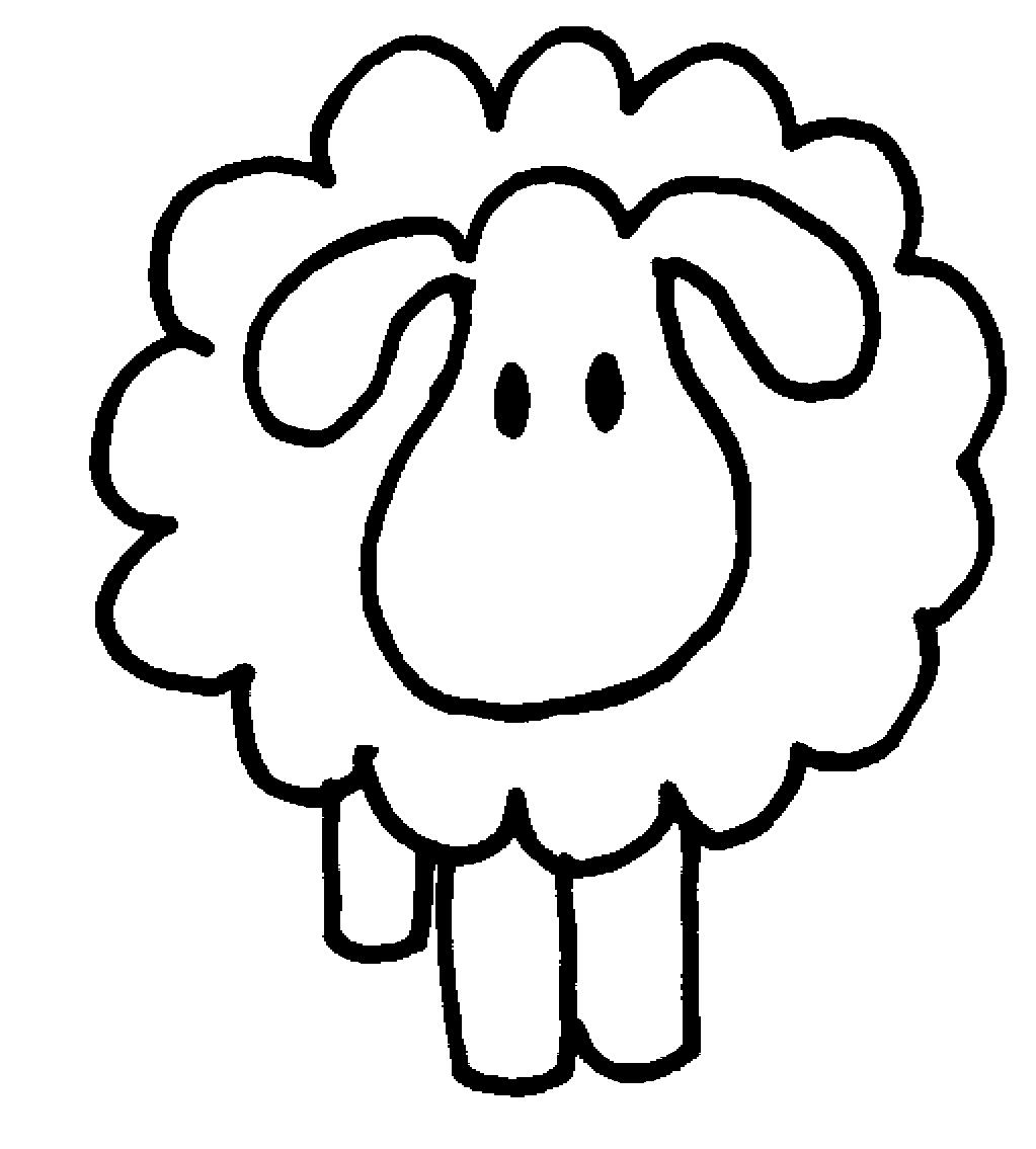 Sheep Clipart Black And White-sheep clipart black and white-12