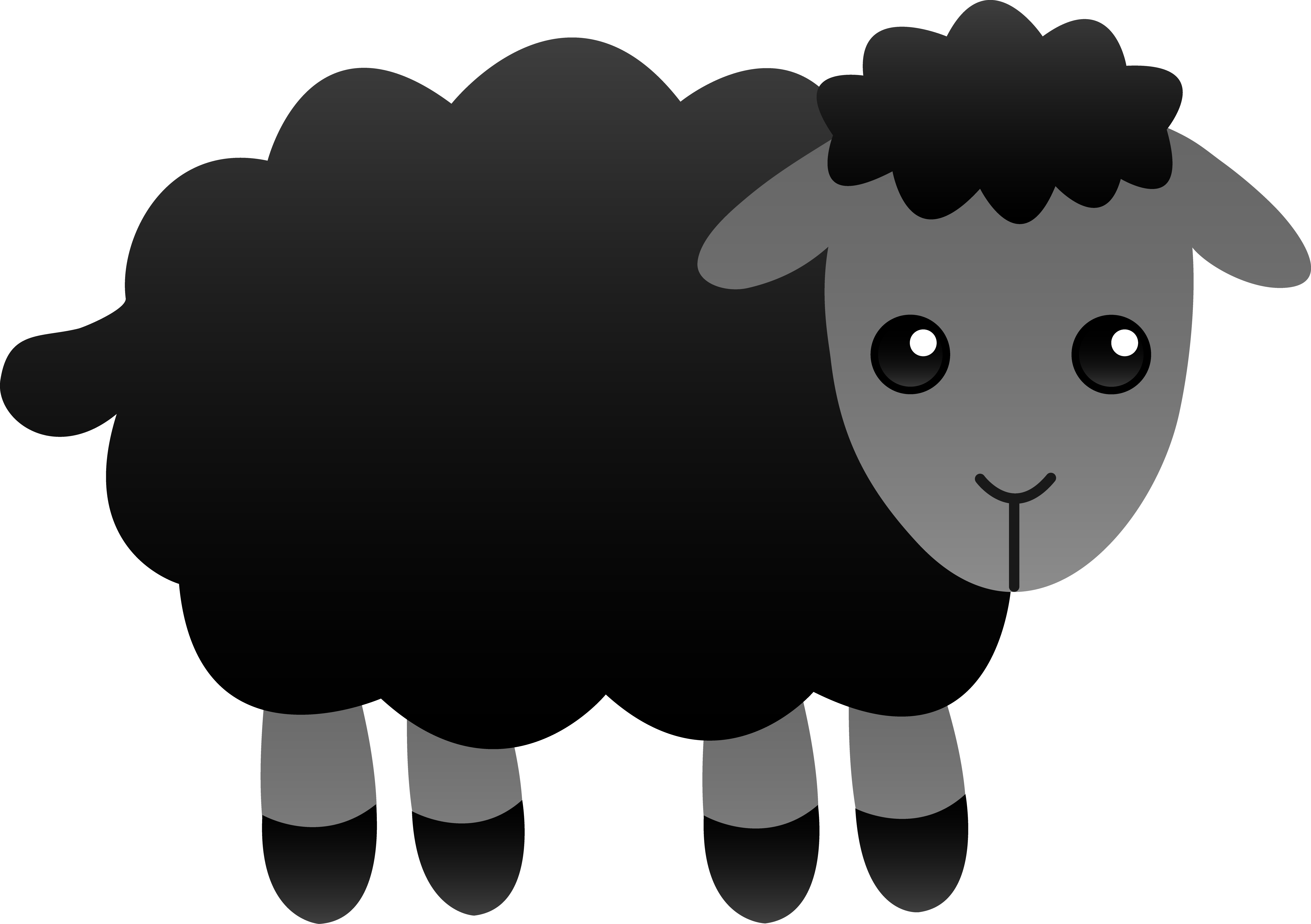 Sheep Clipart Cute - .-Sheep clipart cute - .-15