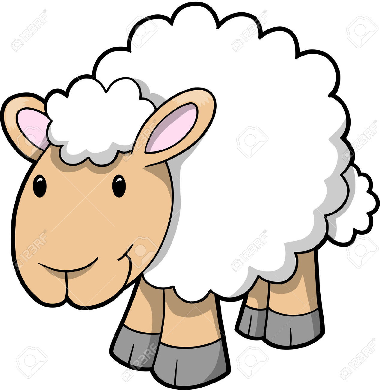 Sheep Clipart Free - .-Sheep clipart free - .-16