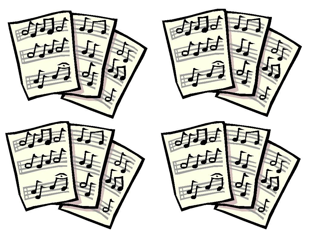Sheet Music Clipart