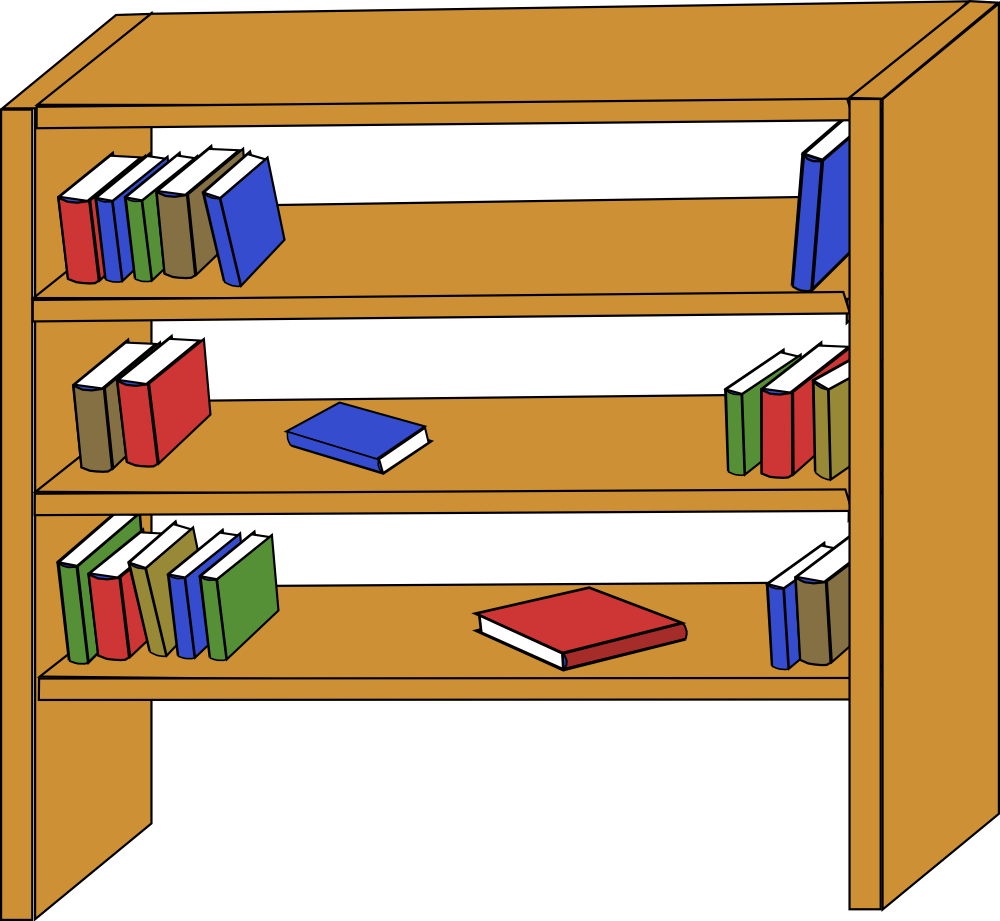 shelf clipart - Shelf Clipart