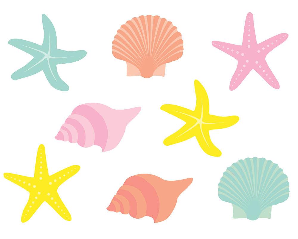 Shells Clipart Clip Art, .