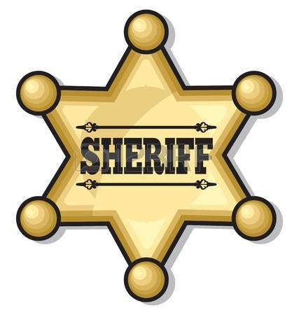 sheriff badge: sheriff badge