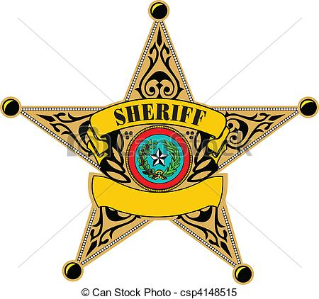 ... Sheriff badge. Vector illustration