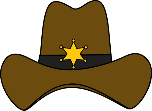 Sheriff Cowboy Hat Clip Art Image Cowboy Hat With A Sheriff Badge On