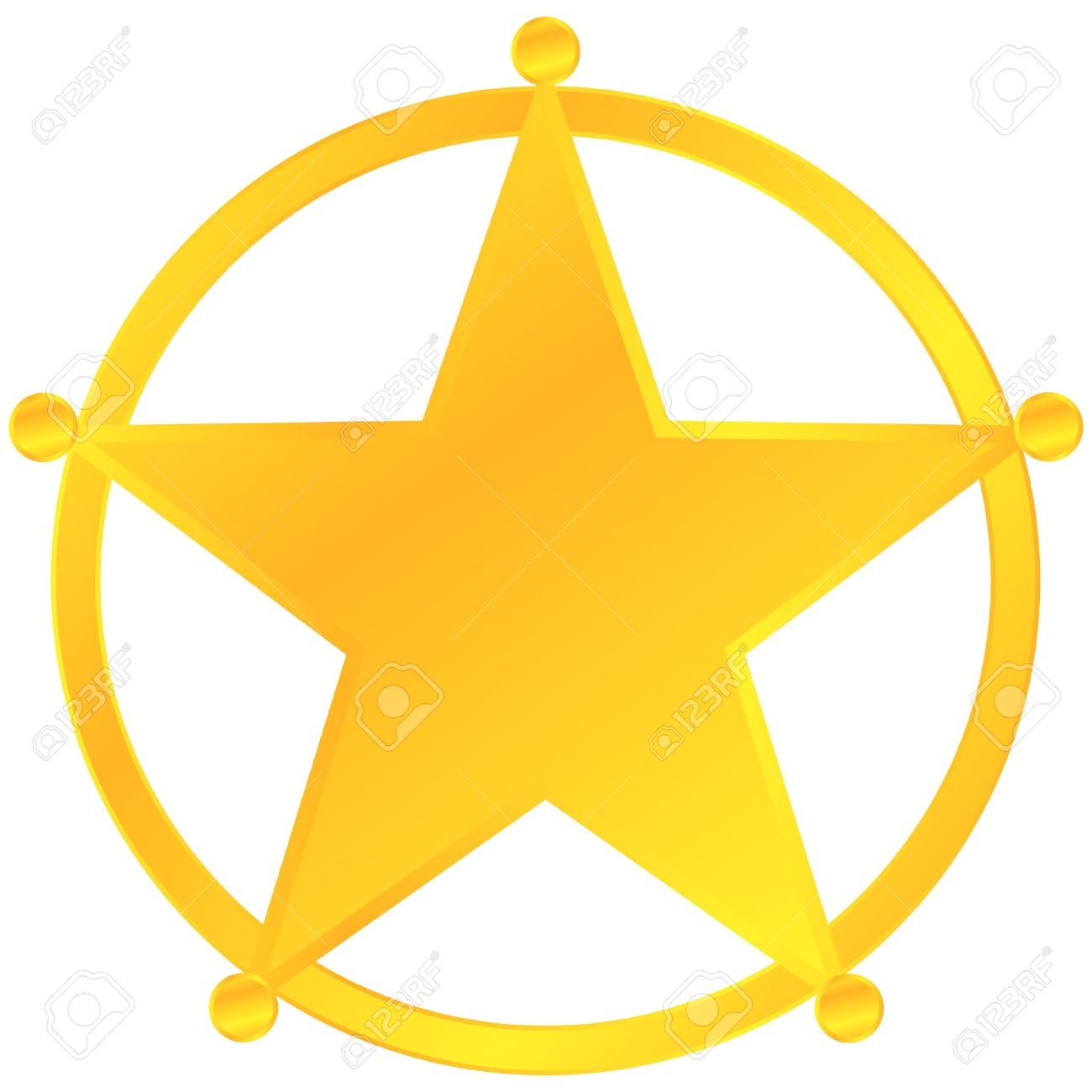 sheriff: Golden Sheriff Badge .