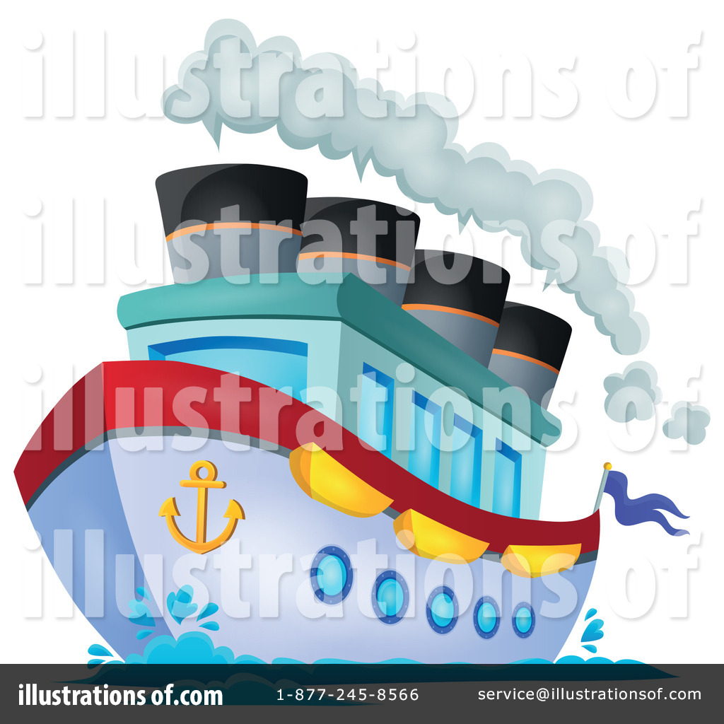 Royalty-Free (RF) Cruise Ship Clipart Illustration #1322241 by visekart
