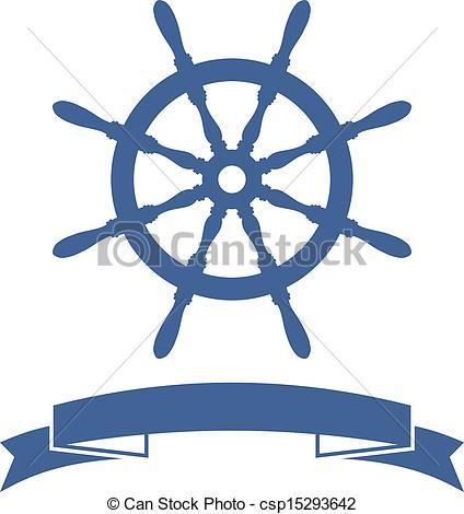 ... Ship Wheel Banner isolated on white -... Ship Wheel Banner isolated on white background. Vector.-14