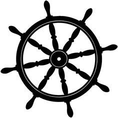 Ship Wheel Silhouette Ships Wheel Silhou-Ship Wheel Silhouette Ships Wheel Silhouette Vinyl Sticker-3