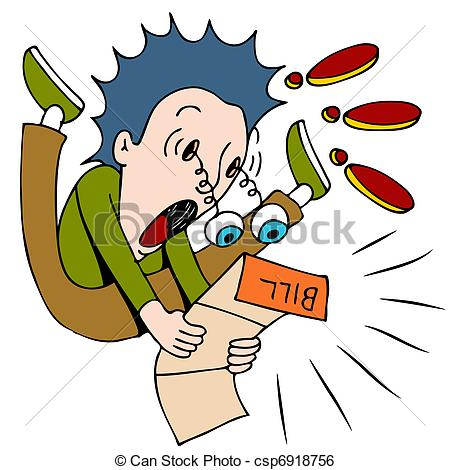 ... Shocked By The Bill - An image of a -... Shocked By The Bill - An image of a man shocked at how.-12