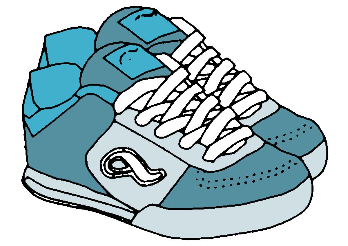 Shoe Clip Art - Clip Art Sneakers