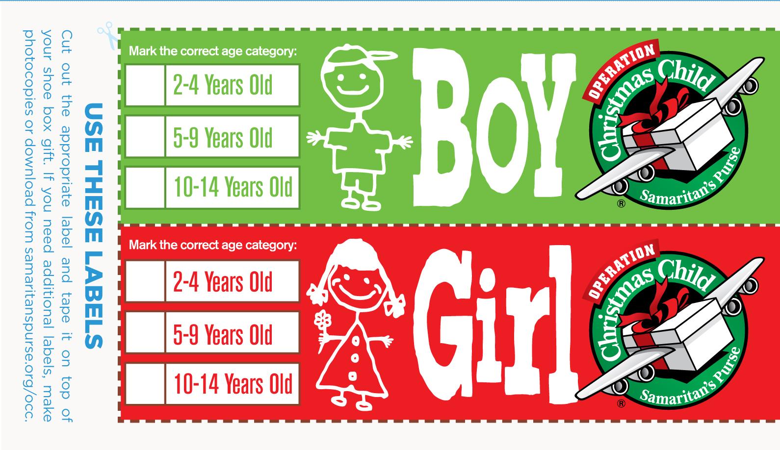 Shoebox Labels