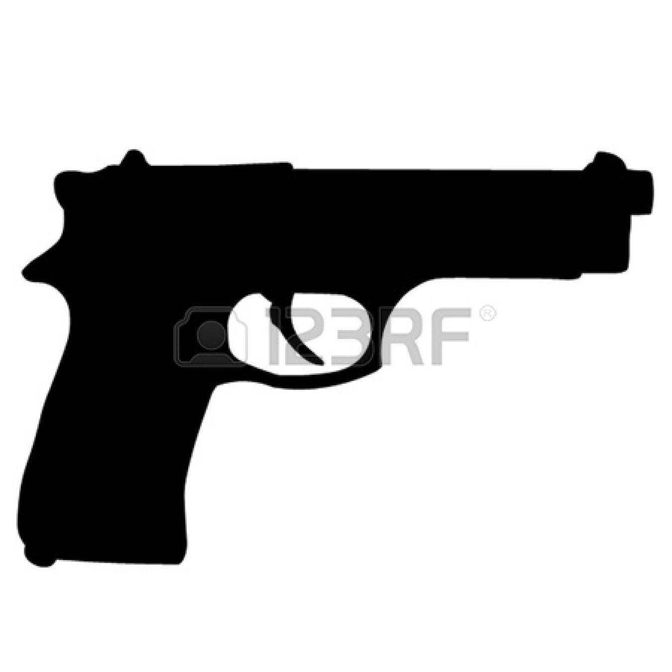 Shooting Gun Clipart 12066190 - Handgun Clip Art
