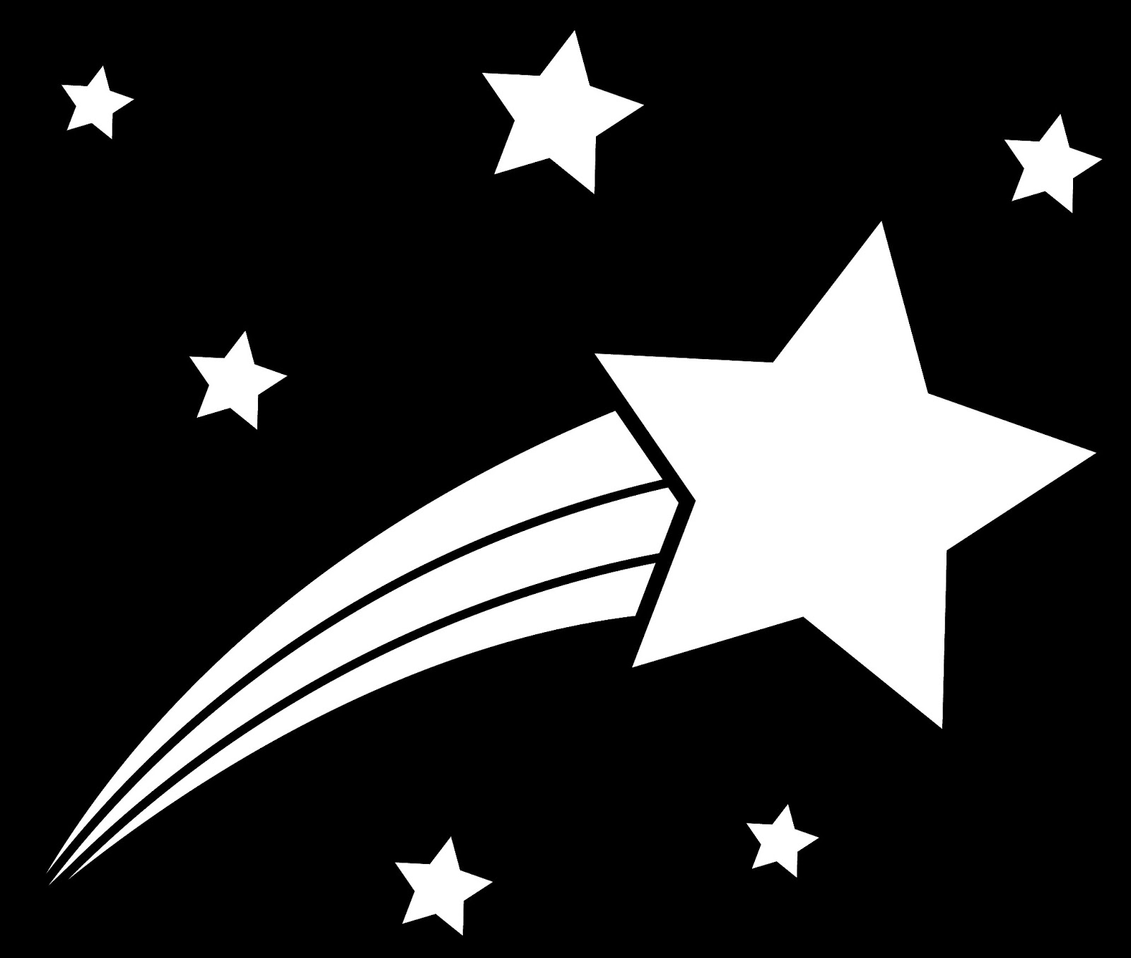 Shooting Star Clip Art Black And White C-Shooting Star Clip Art Black And White Clipart Panda Free Clipart-15