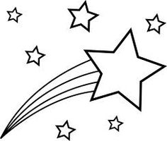 Shooting Stars Clipart Black And White F-Shooting stars clipart black and white free 2-6