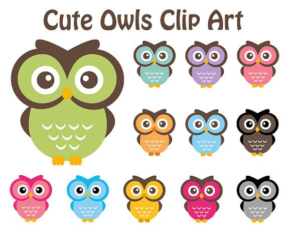 Shop outside the big box, with unique items for cute owls clipart from thousands of independent designers and vintage collectors on Etsy.