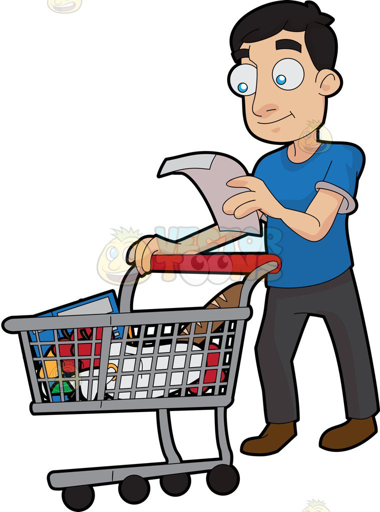 A Guy Checking His Grocery List-A guy checking his grocery list-3