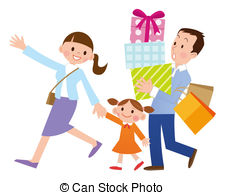 . ClipartLook.com Family With Shopping-. ClipartLook.com Family with shopping-4