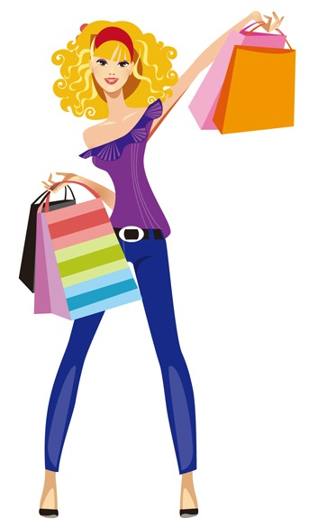 Published At 343 × 584 In 1-girl-shoppi-Published at 343 × 584 in 1-girl-shopping-clipart-8