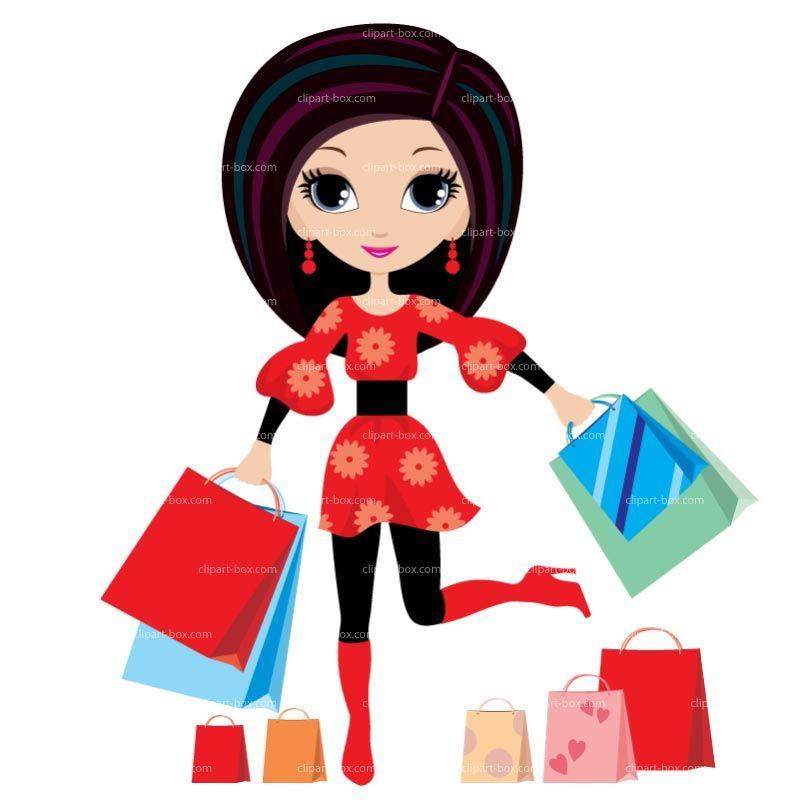 Shopping Girl Clip Art   CLIPART SHOPPIN-Shopping Girl Clip Art   CLIPART SHOPPING GIRL   Royalty free vector design-15
