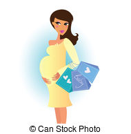 ... Shopping pregnant woman - Pregnant woman with shopping bags.