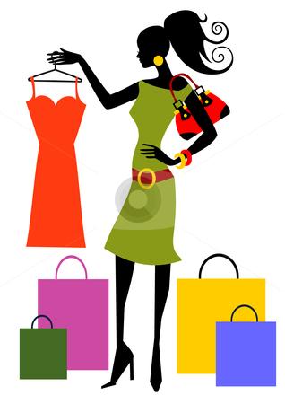 Shopping Woman Stock Vector .-Shopping Woman Stock Vector .-19