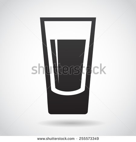 Shot Glass Icon Isolated On White Background Vector Illustration