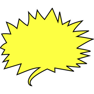 SHOUT BALLOON YELLOW - public domain clip art image