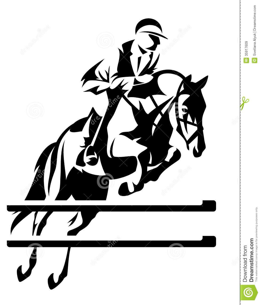 Show Jumping Horseman Design .