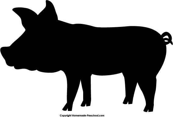 Show Pig Silhouette Clip Art Silhouette Clipart