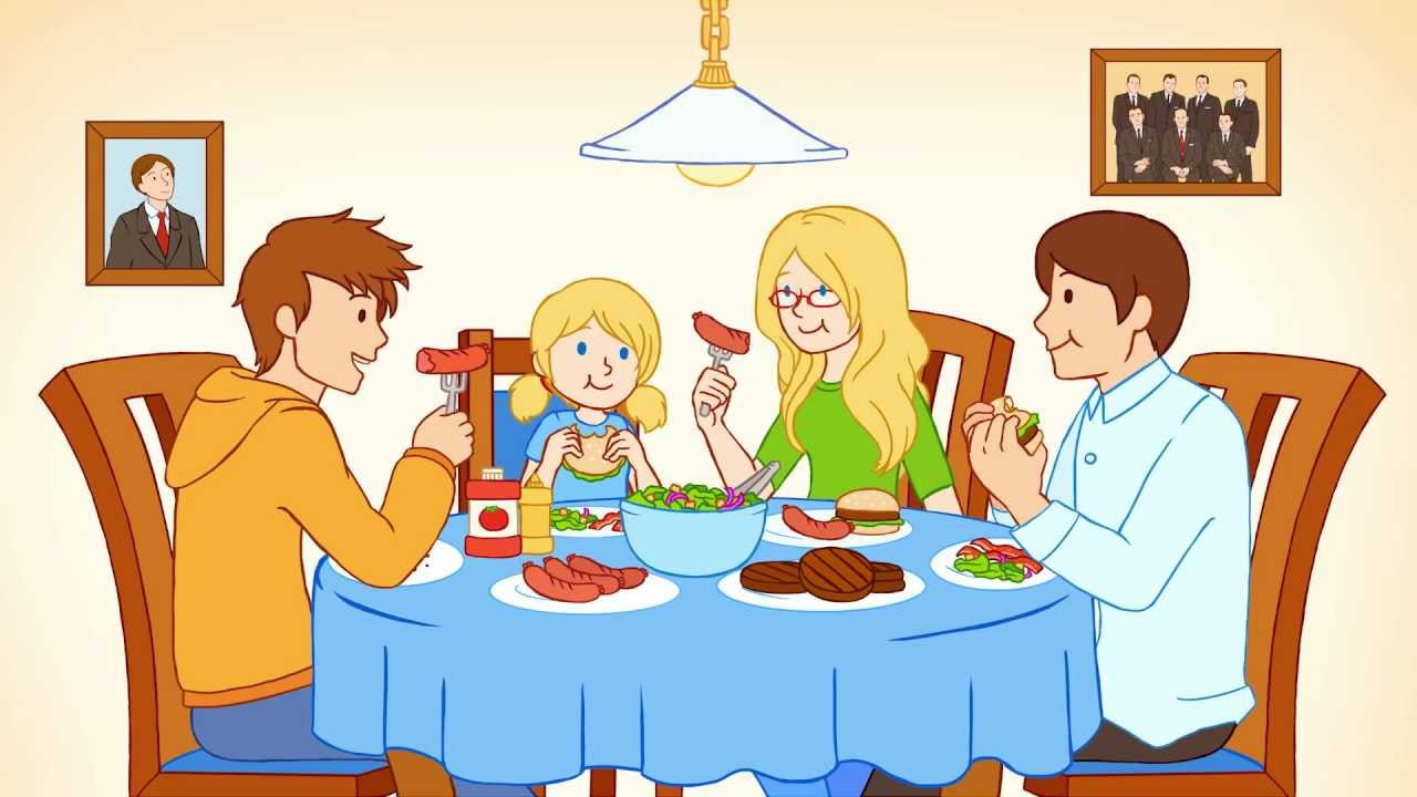 Showing Gallery For Family Eating Togeth-Showing Gallery For Family Eating Together Animated-19