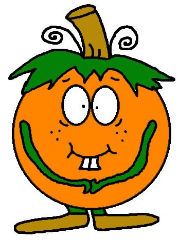 Shy Pumpkin Clipart