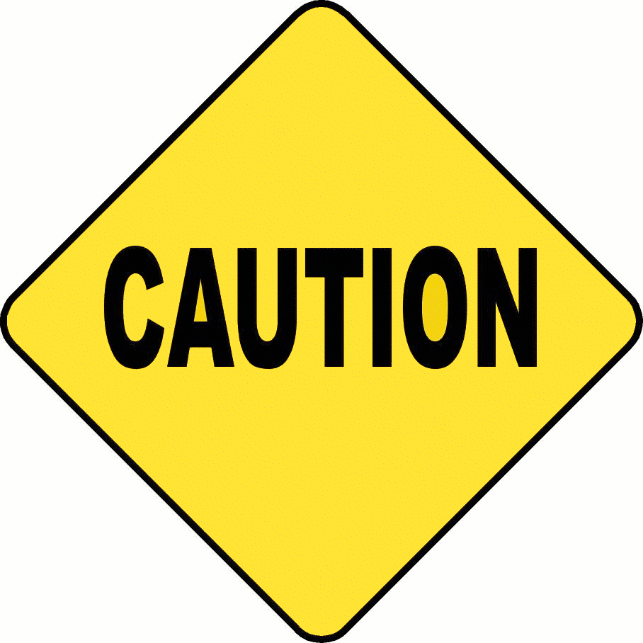 Caution sign clip art warning