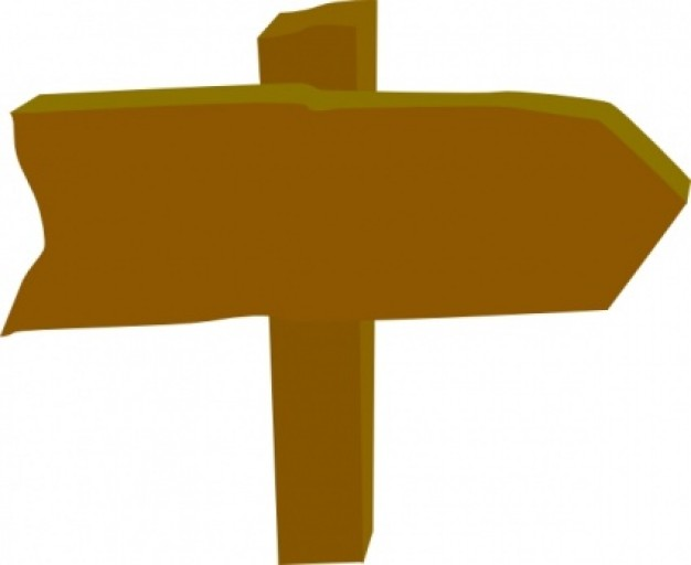Sign Clipart Wood Sign Post D - Sign Clipart