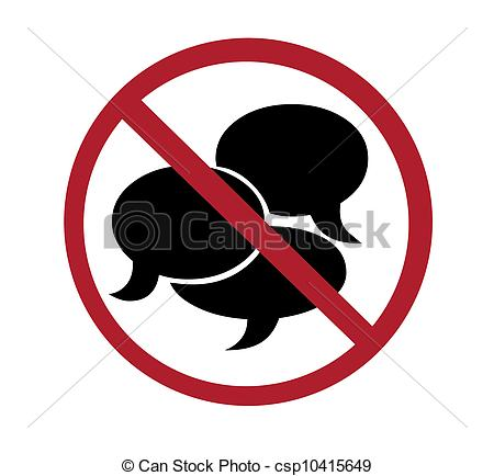 ... sign - no talking