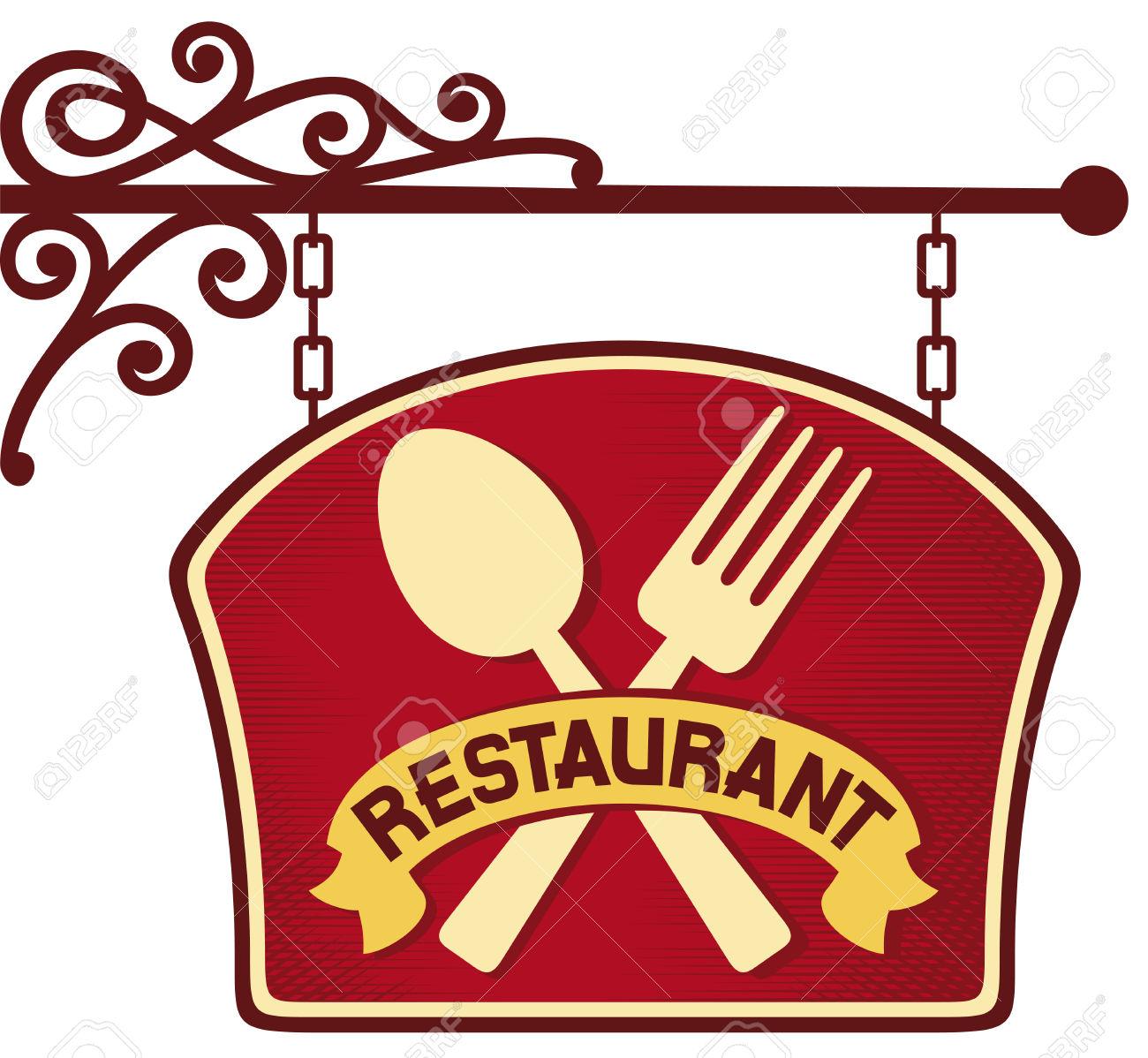 Signboard Restaurant Symbol .-signboard restaurant symbol .-16