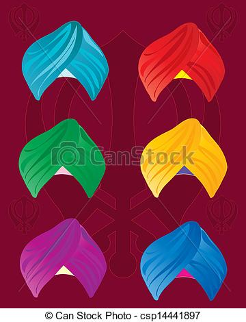 Colorful Turbans - Csp14441897-colorful turbans - csp14441897-1