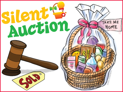 Silent Auction Basket Clip Art