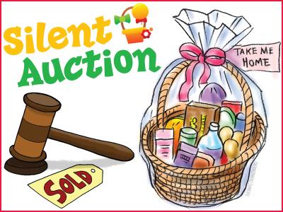 Silent Auction Basket Clip Art