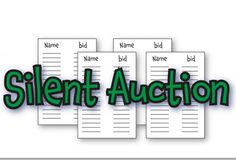 Silent auction clipart - .