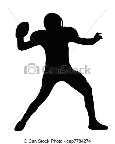 ... Silhouette American Football Quarterback Throw - Silhouette.