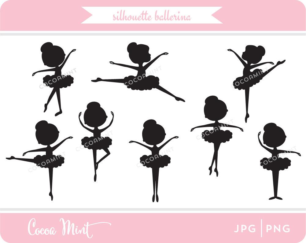 Silhouette Ballerina Clip Art.